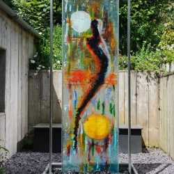 Glass Panel Water Feature with Stainless Steel Fittings, Bath UK