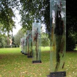 Figurative Glass Panels at Urchfont Garden, UK
