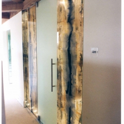 Glass Panels in Bathroom, Private House UK