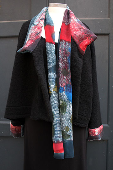 wool jacket open and scarf web