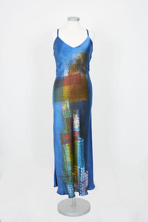 blue dress front low