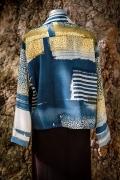 Straight wool jacket back