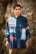 mans style silk mix shirt