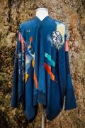 scarf jacket back web