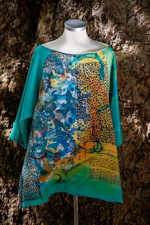 turquoise boat neck tunic