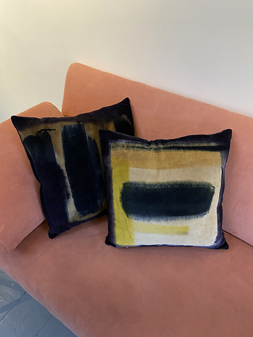 handpainted cushions