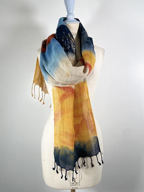 linen scarf carole waller