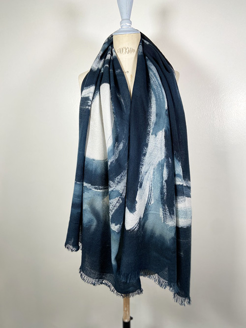 cashmere scarf black and white